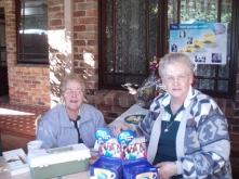 Kath & Betsy collecting donations