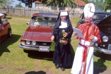 Betty & John's Triumph - Laura christened by The Cardinal - His Grace - the Very Reverent Peter File and Sister Comeandthumpus