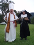 The Reverend Peter and Sister Cumandthumpus