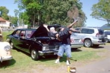 Jose with his Holden - Black Betty