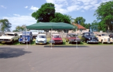 Line up of cars awaiting Christening February 2010