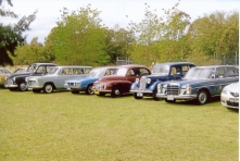 A line up of some of the club cars