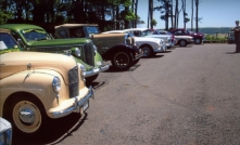 A nice line up of club cars on a Club Run