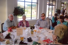 Members enjoying the 2009 Christmas Party